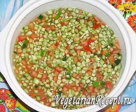 Рецепты вегетарианской, овощной окрошки для