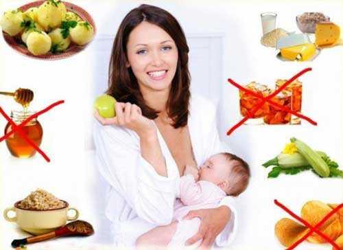 Рацион кормящей матери: список продуктов,