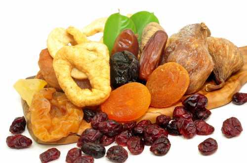 Калорийность сухофруктов, калорийность, в чём их