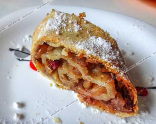 Пошаговый рецепт штруделя с яблоками,  секреты