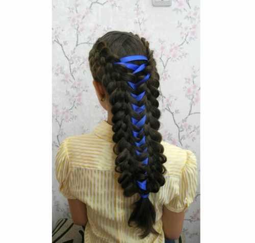 Причёски с лентами в волосах: фото, виды укладки,