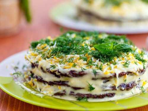 Печеночный торт: рецепт с тресковой печенью