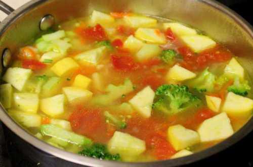 Овощной суп с клецками рецепт с баклажанами
