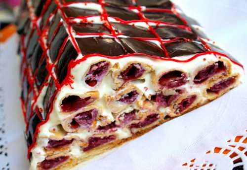 Рецепты торта Монастырская изба с вишней и со