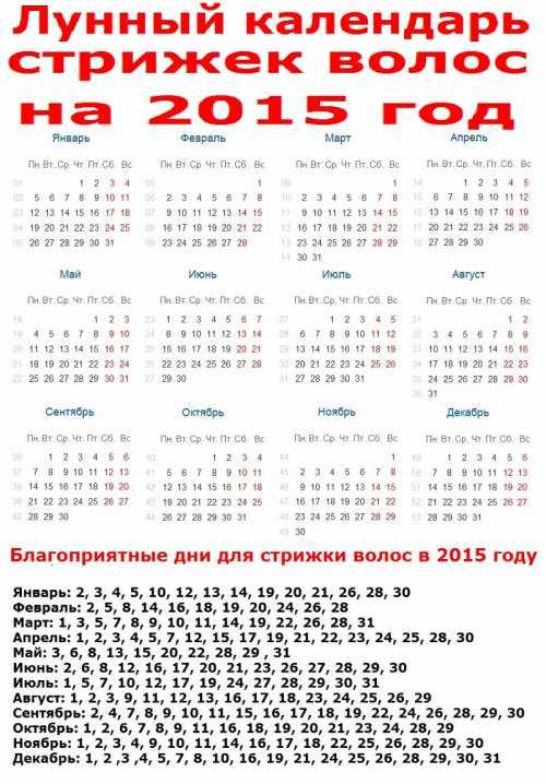 Лунный календарь стрижек на июль 2015