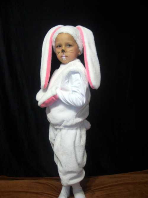 Изготовление костюма зайчика для мальчика  своими
