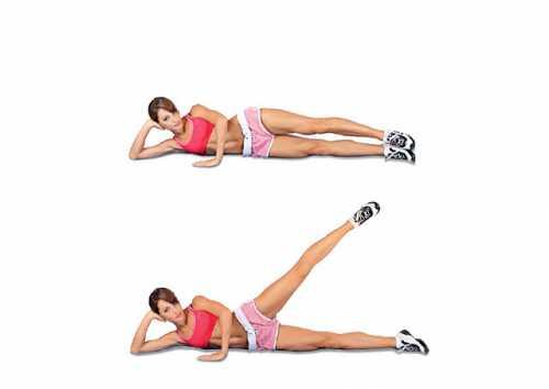 Варианты упражнения для похудения бёдер фото: