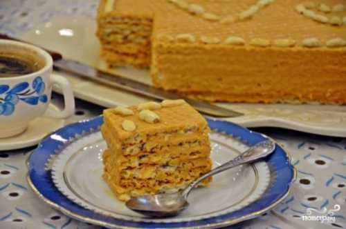 Вафельный торт: пошаговый фото