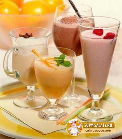 Рецепты молочных коктейлей с мороженым