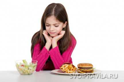 Спорные продукты в диете для подростка
