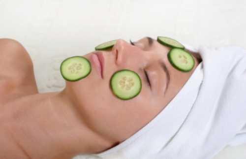 Использование огуречных масок для лица в домашних