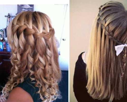 Французские причёски: колосок, водопад и другие,