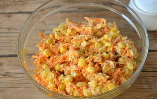 Рецепты салата с корейской морковью и сухариками,