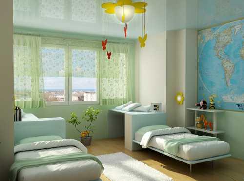 Детская комната для мальчиков и девочек семи