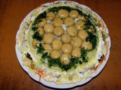 Интересные рецепты салатов 4