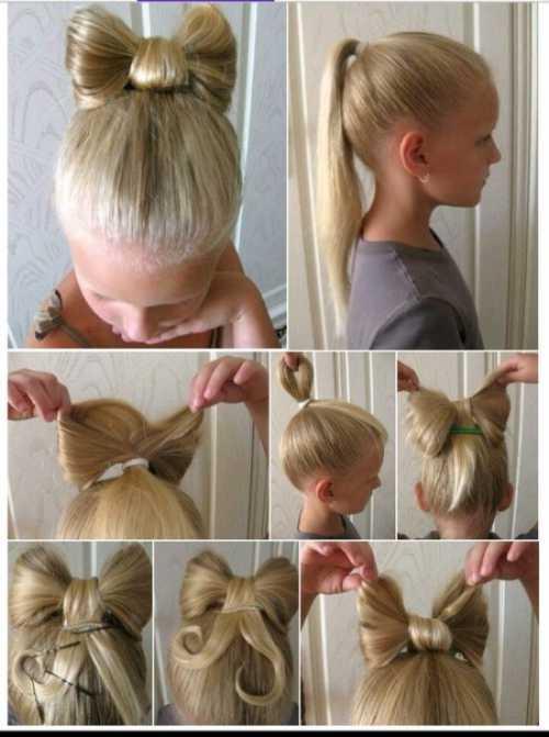 Детские причёски на длинные волосы: фото, виды